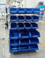 Customized Pegboard Tool Rack 250 Kgs Per Layer Chrome Plated Exhibiting