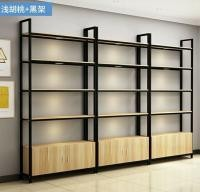 Stable Double Sided Steel Wood Bookshelf