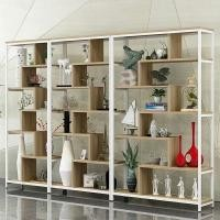 Durable Metal Shelving With Wood Shelves