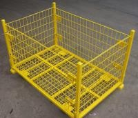 Zinc Surface Storage Cages On Wheels Grid 50*50 Mm Welded Wire Mesh Structure