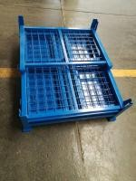 High Strength Storage Cages On Wheels Galvanized Zinc Easily Folded With Castors