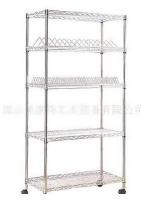 Adjustable Metal Wire Shelving , Heavy Duty NSF 4 Tier Chrome Wire Shelving