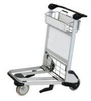 Nature Rubber Wheels Aluminum Luggage Cart For Travellers Train Stations