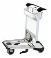 Unfolding Airport Luggage Trolley Shopping Cart Three Wheel With Brake