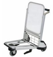 Aluminum Alloy Airport Luggage Trolley With Brake Polyester Outer Easy Operation