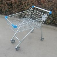 Zinc Plated Metal Store Supermarket Shopping Trolley Grocery Push Cart
