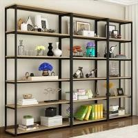 Easy Installation Metal And Wood Display Shelves , Metal Shelving With Wood