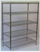 Floor Type NSF Wire Shelving Flat Slant Wire Basket Multi Layers SGS Approval