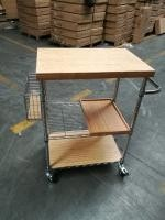 Metal And Wood Kitchen Carts Shelving Custom Dimension Logo Available Home
