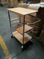 metal/ wood kitchen carts , Shelving, Carts & Racks | Wire Shelves Wire Shelving