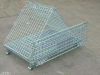 Full Opening Warehouse Cages On Wheels , Wire Container Storage Cages Stable
