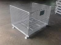 Storage Cages On Wheels Space Saving For Transport Warehouse Supermarket