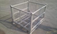 Galvanized Coating Equipment Storage Cage , Warehouse Cages On Wheels Industrial