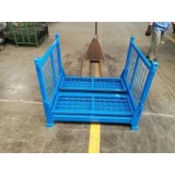 Steel Warehouse Cages On Wheels Welded Wire Mesh Structure Four - Way Entry