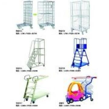 Double Sided Logistics Trolley Metal Supermarket Shelf Store Retail Fixture
