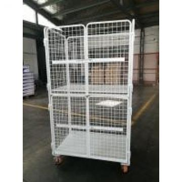 Zinc Chrome Logistics Trolley Adjustable Distance Steel Warehouse High Strength