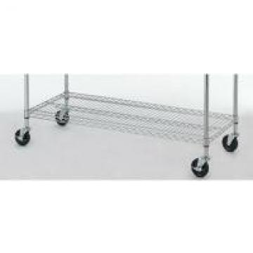 Carbon Steel Black Commercial Shopping Trolley 18*48*72'' NSF Household Light