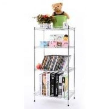 4 Tier Stainless Steel Wire Shelves Customized Logo Non - Folding Rack