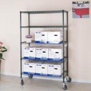 Eco - Friendly Steel Commercial Metal Shelving Heavy Duty Chromed Steel