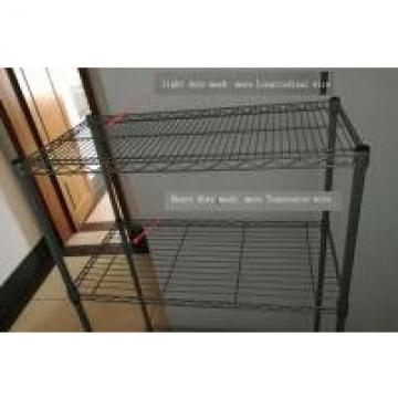 Adjustable Leveling Feet Wire Frame Shelving , Metal Mesh Shelf Basement