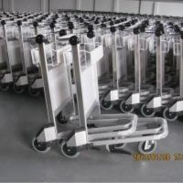 Stainless Steel Powder Coating Airport Luggage Trolley 250 Kgs Per Layer Load