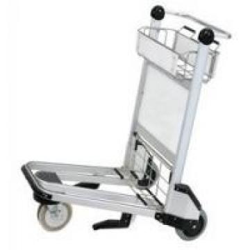 Portable 3 Wheels Smart Cart Airport , Luggage Cart Trolley For Hotel Staff