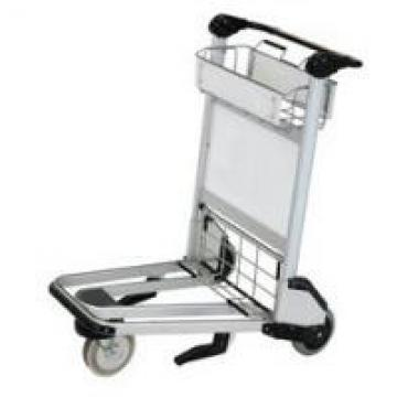 Unfolding Airport Luggage Carts , Airport Baggage Cart Silver High Strength