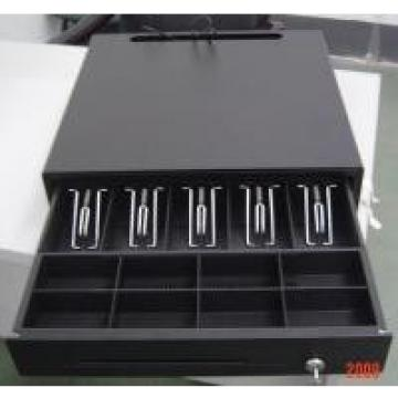Black Color Finish Metal Mini Cash Register Drawer Lock Box For POS Systems