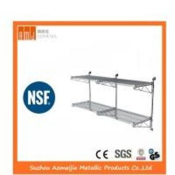 Custom Size NSF Wire Shelving Fully Welded Post Brackets Anti - Broken