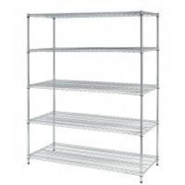 BSCI factory & NSF certified 4 Tier carbon steel rolling chrome wire shelving