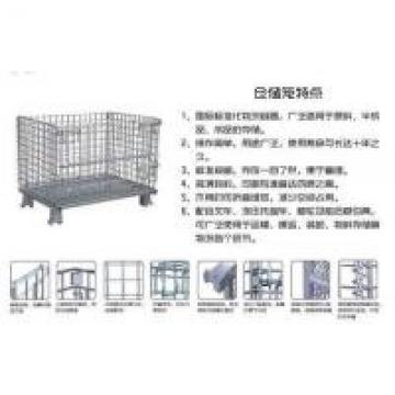 Recycle Storage Cages On Wheels Industry Galvanized Mesh Steel Wire 5.0 Mm