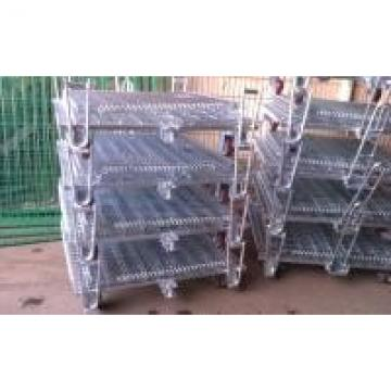 Welded Wire Mesh Storage Cages On Wheels Easy Maintenance Loading Unloading