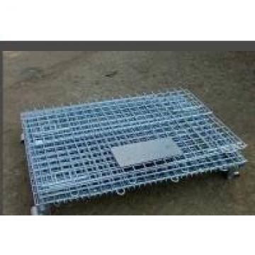 Galvanizing Storage Cages On Wheels With 100mm Height Wheel Easily Folded