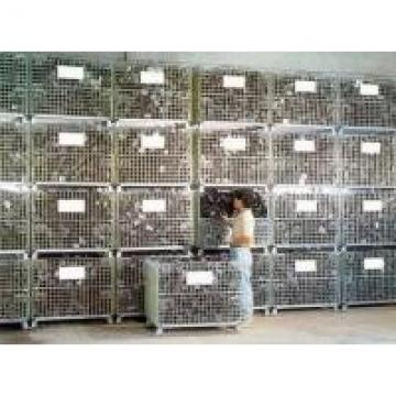 Steel Lockable Warehouse Wire Container Storage Cages Easy Operation Durable