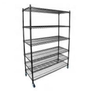 Easy No Tool Assembly Wire Standing Shelf Double Sided Metal Supermarket