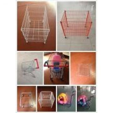 Stable Commercial Shopping Trolley Metal Garment Display Rack Store Shelving