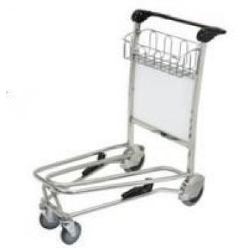 Portable Airport Luggage Trolley 3 Wheels With Brake Nature Rubber Unfolding