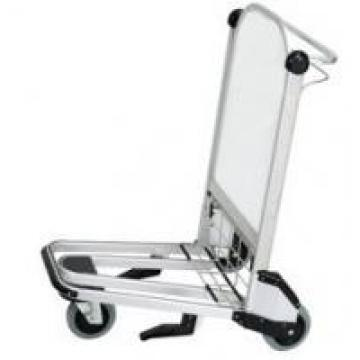 Aluminium Alloy Airport Luggage Trolley Ergonomic Flat Handle High Strength