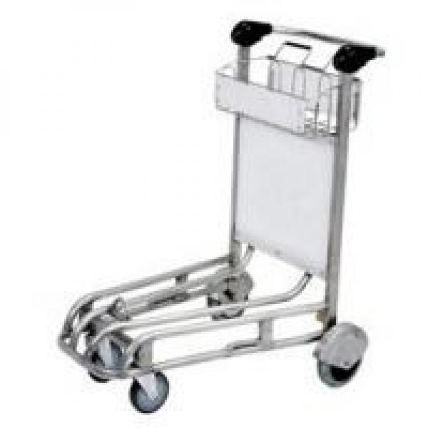 Industrial Aluminum Luggage Cart Self Adjusting Automatic Brake Front Bumper For #1 image